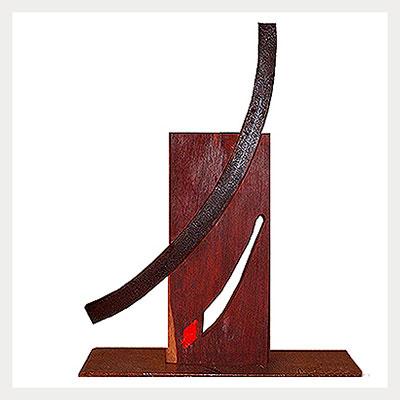 Antonio Antoni Amat INTERACTIONS-III-Wrought-iron,-wood-and-encaustic-400x400